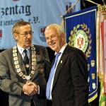 Bürgermeister Jürgen Polzehl und Präsident